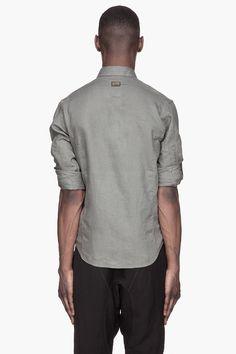 G-STAR Grey Recruit clean linen shirt
