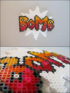 Super Mario 2 - Bomb text - bead sprite magnet