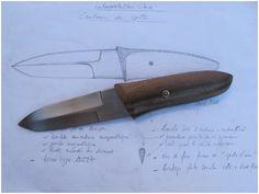 Alain Valette / couteau de botte (étude)