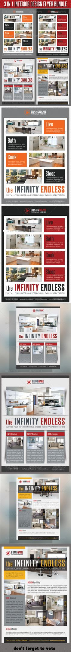 Interior Design Flyer  Business Company Psd Templates And Template