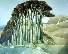 "Paul Nash. ""Wood on the Downs""  My favourite British artist"