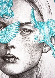 """septagonstudios: """" MΛRYNN illustration Naughty Blues """""""