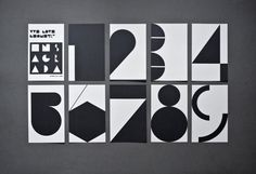 geometry numerals by estudio ibán ramón.