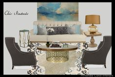 Chic, neutral living space from Amanda Carol Interiors