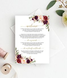 wedding welcome letter wedding template thank you template thank you template wedding thank you card marsala thank you cards sw101