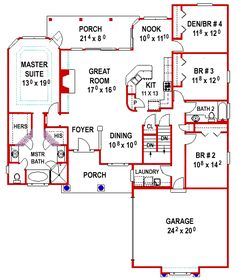 One Floor with Walkout - 24718ME | Southern, Traditional, 1st Floor Master Suite, CAD Available, Den-Office-Library-Study, PDF, Split Bedrooms | Architectural Designs