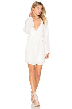 Buy our latest Women's at REVOLVE with free day shipping and returns, 30 day price match guarantee. Casual Chic, Boho Chic, Casual Wear, Low V Neck Dress, Stone Cold Fox, White Fashion, Women's Fashion, Long Sleeve Mini Dress, Revolve Clothing