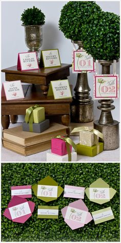 Table numbers and placecards