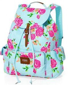 Victoria's Secret PINK Backpack Blue Leopard Print | World, Pink ...