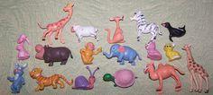 17 vintage plastic miniature toy animal figurines giraffe monkey cat snail poodle elephant zebra sheep camel turtle bunny rabbit by BigGDesigns on Etsy