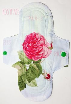 """9""""Reusable Cloth Menstrual Pad, Moderate Absorbency 100% Cotton With PUL Core, Reusable Menstrual Cloth, Cloth Pads by RosyPads on Etsy"""