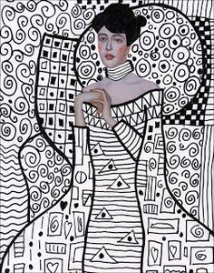 Art Projects for Kids: Klimt Template, FREE Download .... alternative idea is for students to put their own portrait