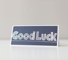 Good Luck card made with images from the Mondo Fonts Cricut cartridge by Rob and Bob. Make It Now with the Cricut Explore machine in Cricut Design Space.