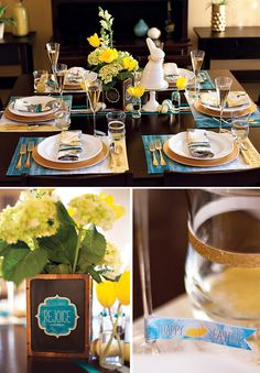 Easter Brunch Table Inspiration + Free Printables from Jenn @Hostess with the Mostess