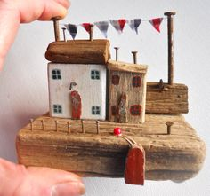 Driftwood Houses Driftwood Cottages Driftwood by BeadyMagpie
