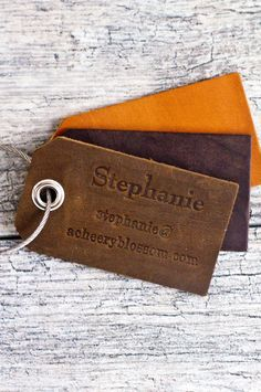 Personalized Custom Leather Luggage Tag. Make a statement wherever you travel with custom leather luggage tags that are carefully handmade. These make meaningful gifts for weddings, holidays, annivers