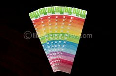 Monthly Bill Tracker Stickers for your Erin Condren Life Planner Monthly View - Colorful Rainbow Ombre, Set of 6 by lilliehenry on Etsy