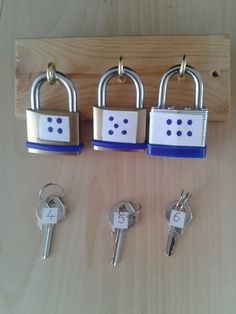 Put a lock on a word problem have the key be the answer or could be used for multiplication or division facts.
