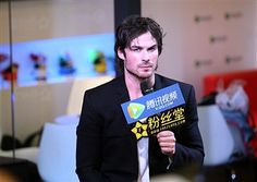 Actor Ian Somerhalder meets fans during the 20th Shanghai Television Festival at Shanghai Exhibition Center on June 11, 2014 in Shanghai, China.