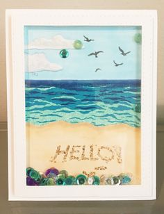 Card made using Hero Arts June 2018 My Monthly Hero kit. Card Kit, Card Tags, Card Making Inspiration, Making Ideas, Hero Crafts, Hero Arts Cards, Mermaid Crafts, Beach Cards, Diy Cards