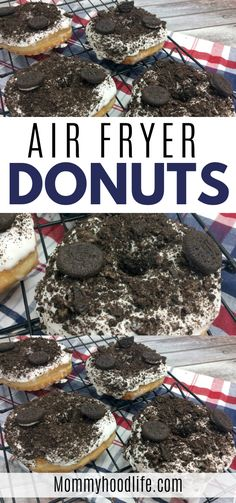 Everything tastes better fried and with this Air Fryer Donut Recipe you can have OREO Donuts, quick and easy, straight from your air fryer! Air Fryer Cake Recipes, Oreo Cake Recipes, Air Fryer Dinner Recipes, Air Fryer Recipes Easy, Donut Recipes, Cookie Recipes, Oreo Recipe, Bean Recipes, Chef Recipes