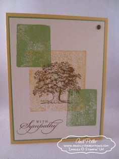 July 21, 2013 Best Of Greetings Blog Tour Andi Potler:  Best of Greetings, Lovely as a Tree, clear block stamping technique