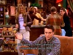 A Hilarious selection of the best and funniest Friends TV Show Quotes and Sayings. Life and Love Quotes with pictures from the tv Show 'Friends'. Joey Friends, Friends Moments, I Love My Friends, Friends Tv Show, Friends Forever, Funny Friends, Friend Jokes, Friends Scenes, True Friends