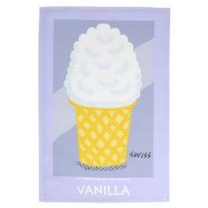 Vanilla Ice Cream Kitchen Towel