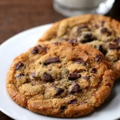 Chocolate Chip CookiesMakes 30 cookiesINGREDIENTS2 cups butter, melted2 cups packed brown sugar 2 cups granulated sugar 4 large eggs1 tablespoon vanilla extract5 cups all-purpose flour2 teaspoons baking soda4 cups chocolate chipsPREPARATION1. Preheat oven to 375°F/190°C.2. In a large bowl, whisk together the butter, brown sugar, and granulated sugar until evenly combined and light in color.3. Add in the eggs and vanilla, mixing until smooth.4. Add the flour and baking soda, folding the…