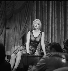 Marilyn Monroe On Set Some Like It Hot Vintage 1959 Camera Negative Photograph