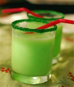 Grinch punch- sherbert lime and sprite delicious