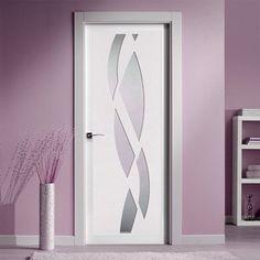 San Rafael Lacada Glazed Door - Model 988VH White Painted - Lifestyle Image