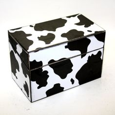 Wood Recipe Box Cow Spots Black and White Farm Country by KotiBeth, $32.00