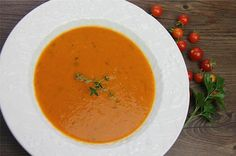 Roasted Tomato Coconut Soup (vegetarian).|CaribbeanPot.com