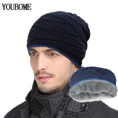 2016 Arrival Beanies Knitted Hat Mens Winter Hats For Women Men Caps Gorros  Warm Moto Fur a3ed3aa7931