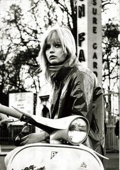 Ewa Aulin and messy fringe! style icon of mine!