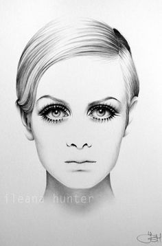 Love The Line Work In Her Hair Love All Of Her Illustration - 22 stunning hype realistic drawings iliana hunter
