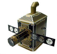 Lanterna mágica-Um progetor de diapositivos, era usada para proporcionar espectáculos de projessão. Muito arcaica.