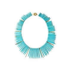 Turquoise Howlite Remy Necklace Bib Necklaces ($109) ❤ liked on Polyvore featuring jewelry, necklaces, aztec jewelry, handcrafted necklaces, egyptian jewelry, turquoise jewelry and green turquoise necklace
