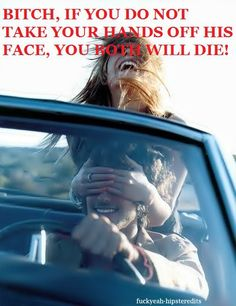 Someone has done this to me when I was driving once, and I thought the exact thing!