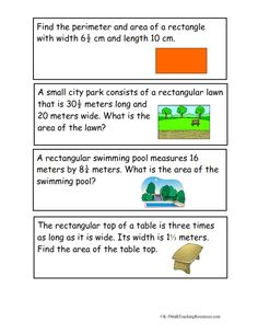 5.NF.4 Area Word Problems with Fractions