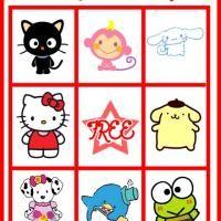 Free printable Hello Kitty Bingo
