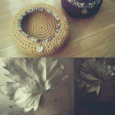 Cestas trapillo. Cotton yarn basket. Handmade. Crochet XL. Ganchillo. Umie design
