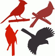 cardinal_birds_on_a_branch_vinyl_wall_decal_6351ebc0.jpg ...  |Cardinal Silhouette Tattoo
