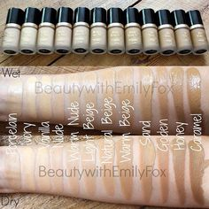 @TooFaced Born This Way Foundation #swatches. New blogpost comparing the shades to help you decide! Everything you want to know is on here: http://beautywithemilyfox.blogspot.com/2015/06/too-faced-born-this-way-foundation.html #tfbornthisway