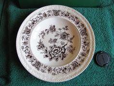 Sweden Gefle STJARNSUND Plate white brown