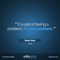 #Conversion Insight from the late Steve Jobs. #wisewords  http://on.fb.me/12bv4ha