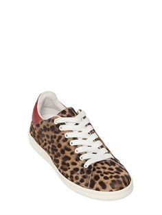 Isabel Marant - Bart Leopard Printed Ponyskin Sneakers