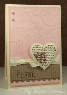 feminine pretty card
