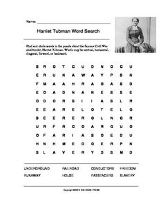 Harriet Tubman Worksheets